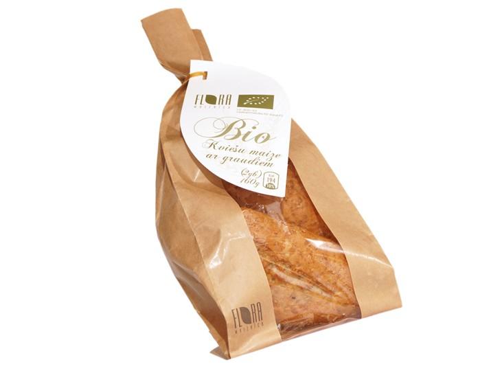 BIO kviešu maize ar graudiem (2gb x 80g) 160 g - maiznīca Flora