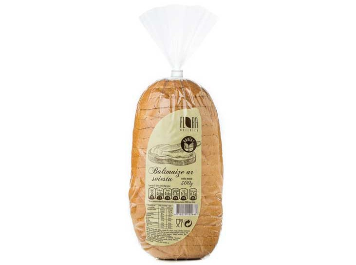 Baltmaize ar sviestu 300 g - maiznīca Flora