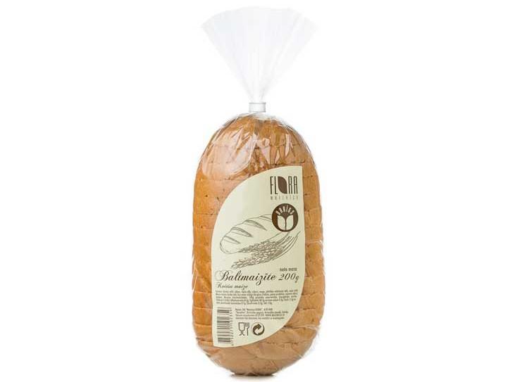Baltmaizīte (sagriezta) 200 g - maiznīca Flora