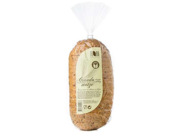 Graudu maize (sagriezta) 400 g - maiznīca Flora