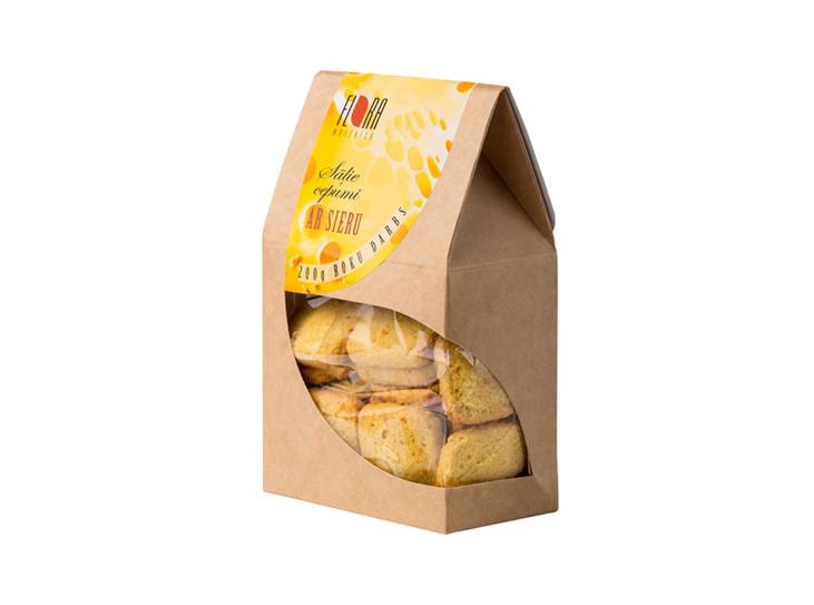 Sāļie cepumi ar sieru 200g - roku darbs - maiznīca Flora