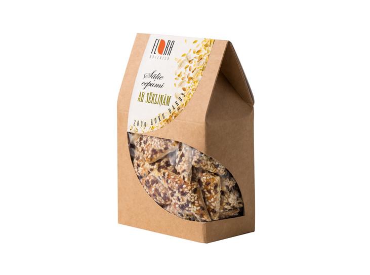 Sāļie cepumi ar sēkliņām 200g - maiznīca Flora
