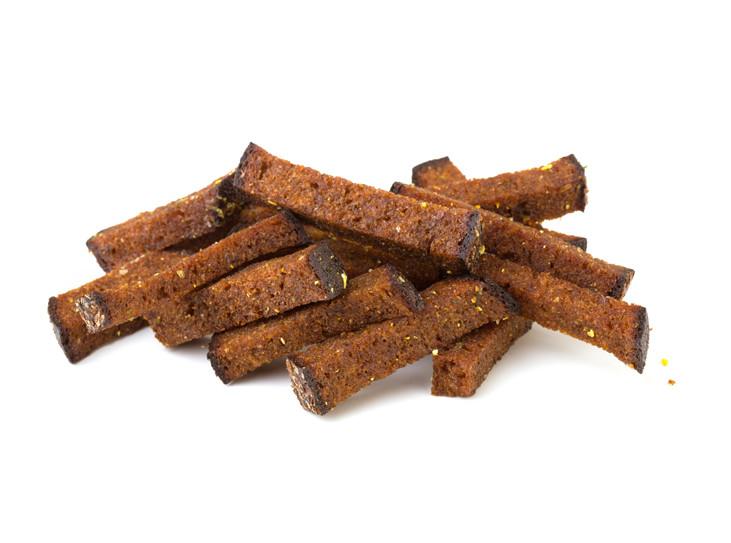 Rupjmaizes ķiploku grauzdiņi - maiznīca Flora