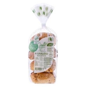 Četru graudu maizītes            4 gab., 200 g