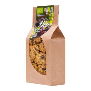 BIO rolled oat cookies with raisins 300g
