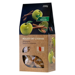 COOKIES Pilngraudu auzu cepumi ar āboliem un kanēli 200g