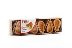 Tropfenförmige Butterteigschalen für salzige und süße Füllungen 18 Stück, 110g
