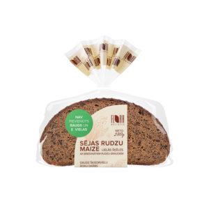 Lielās šķēles Sējas rudzu maize ar briedinātiem rudzu graudiem 280g