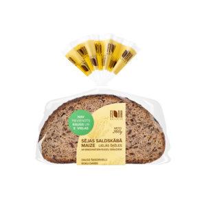Lielās šķēles Sējas saldskābā maize ar briedinātiem rudzu graudiem 260g