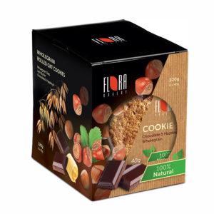 COOKIES Pilngraudu auzu cepums ar šokolādi un lazdu riekstiem (40×8)                   320g