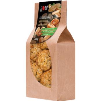 Haferflockenkekse mit Erdnüssen und Karamell   300 g
